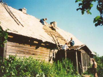 Vana vallamaja lammutamine 1995. aasta suvel
